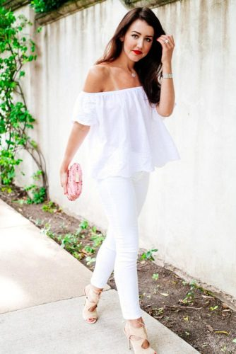 All White Outfits with Skinny Jeans picture 1