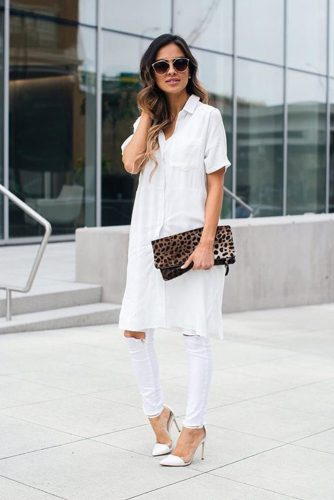 All White Outfits with Skinny Jeans picture 6