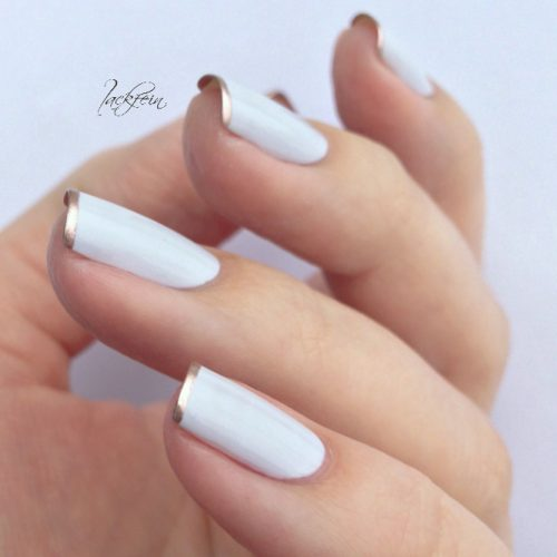 Chrome Tipped Manicure