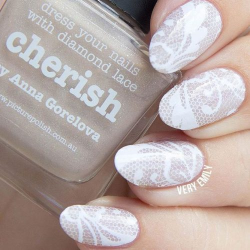 DIY Lace Nail Art