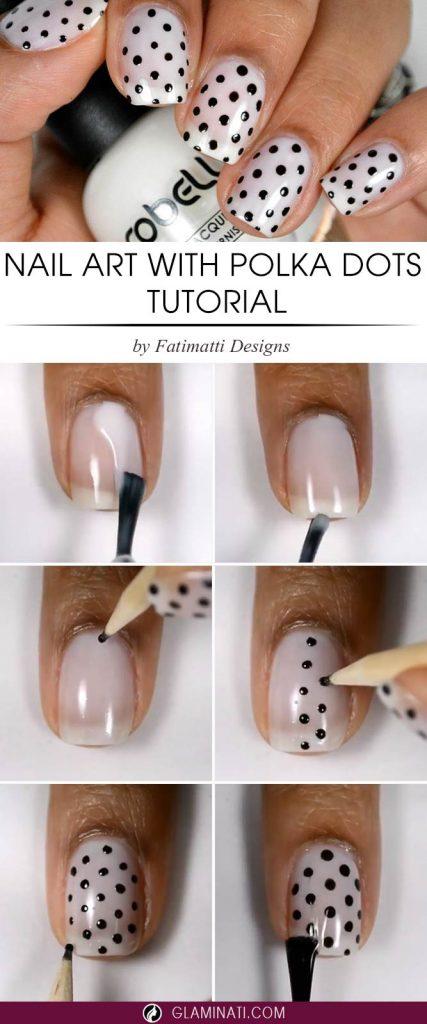 Nail Art with Polka Dots