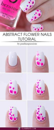 Abstract Flower Nails