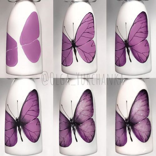 Butterfly Nails Art Tutorial #butterflyart