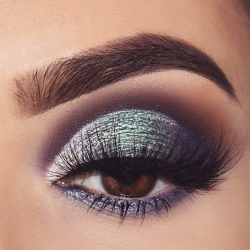Glitter Smokey Eyes Makeup Idea #glittersmokey