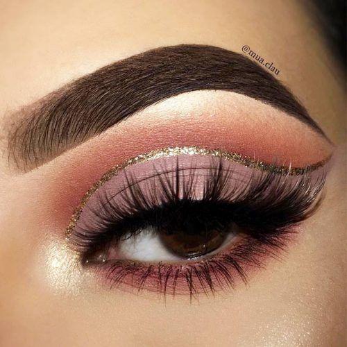 Matte Lavender Cut Crease With Glitter Eyeliner #glittereyeliner