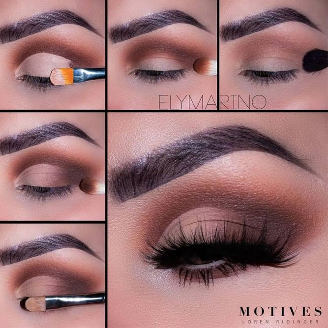 Matte Nude Cut Crease Makeup #tutorial #mattesmokey