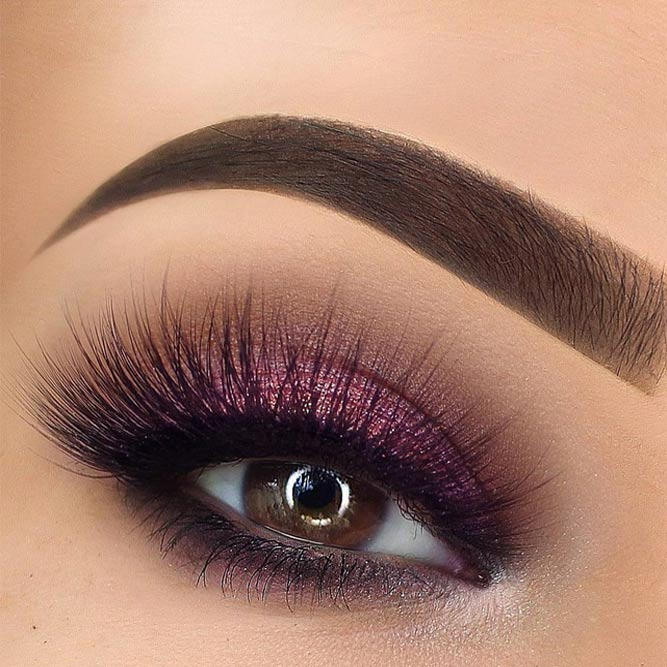 Purple Shimmer Smokey Makeup #purplesmokey