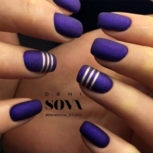 Pretty Nail Designs in Dark Colors picture 1