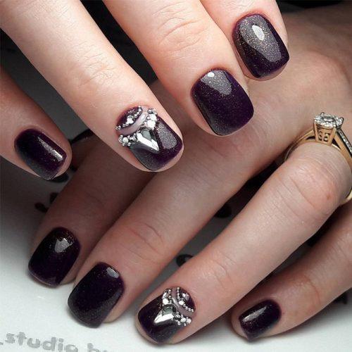 Pretty Nail Designs in Dark Colors picture 5