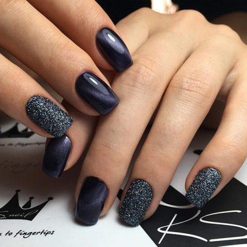 Pretty Nail Designs in Dark Colors picture 3