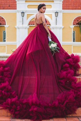 Prom Dress Design With Train #tulle