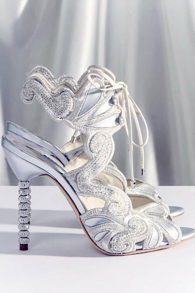 White Prom Shoes Design