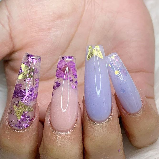 Foil Nail Art Design For Spring #spring #longnails