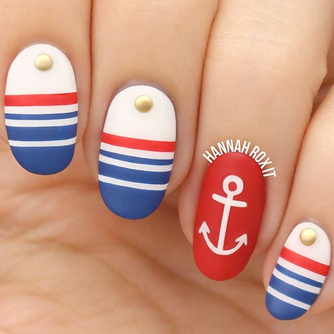 Sea Themes For Spring Nails #mattenails #springbreaknails