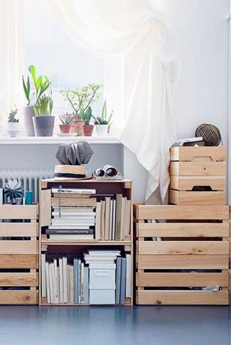 30 Creative Ideas with Storage Crates for Your Home