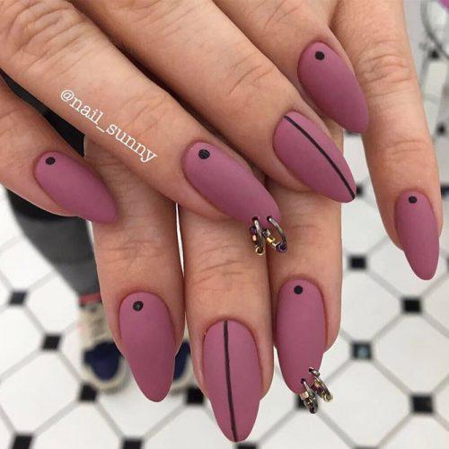 Matte Piercing Nails