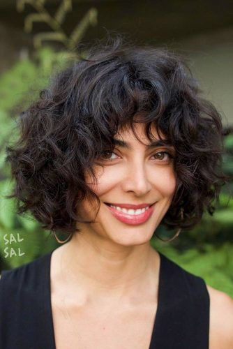 Curly, Layered Bob #curlybob #layeredbob
