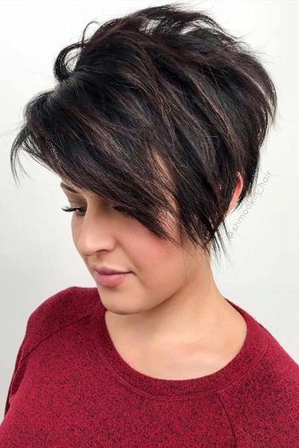 Layered Pixie With Side Bangs #pixie #pixiecut