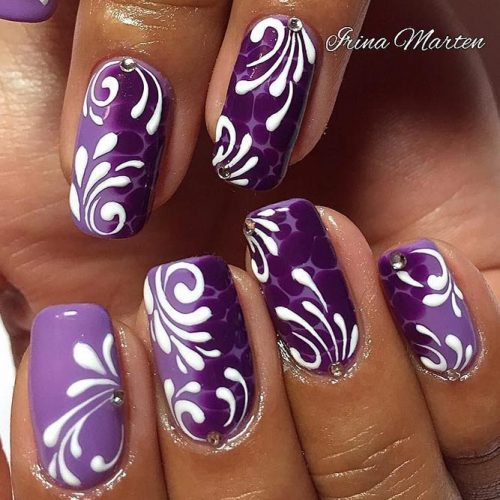 White Swirls Design