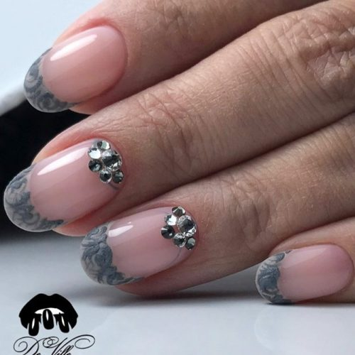 Lacy Tips Nail Ideas