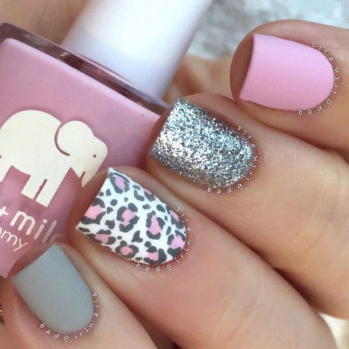 Matte Leopard Nails