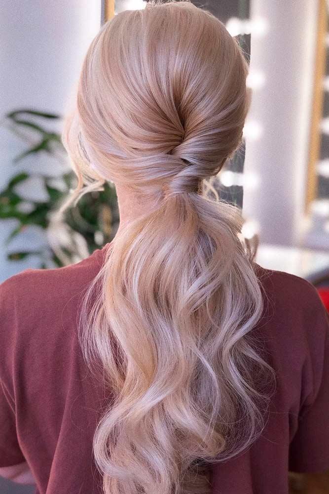 Low Ponytail For Long Hair #longhair #blondehair