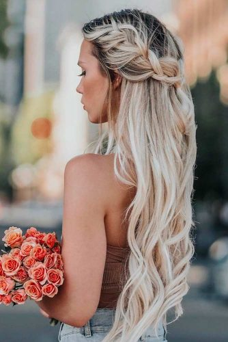 So Stylish And So Trendy Blonde Half-Up Hairstyles #halfup #ombrehair