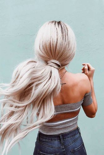 Easy And Fun Ponytail Hairstyles For Long Hair #blondehair #ponytail