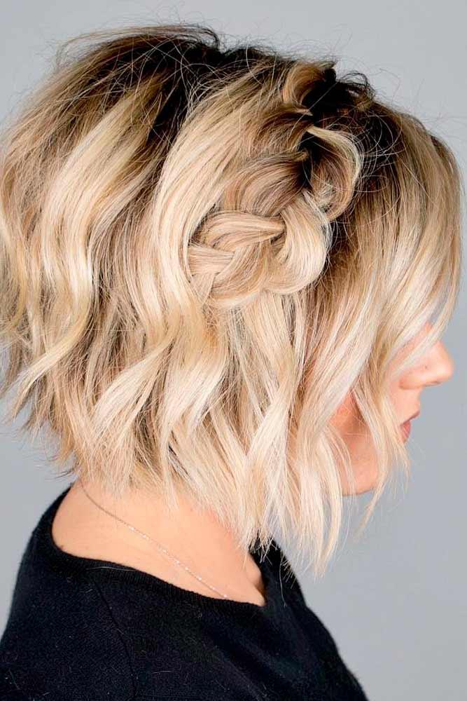 Short Side Braid Hairstyle #shorthairstyles #braidedhair