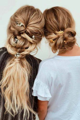 Bohemian Hairstyles With Flowers #bohohairstyles #flowershairstyles