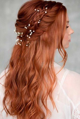 Braided Crown With Flowers #braidedhairstyles #bohohairstyles