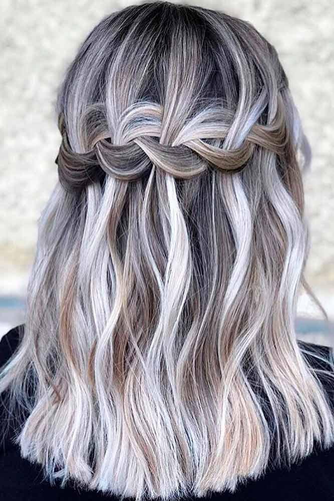 Braided Crown Hairstyle #ashhair #braidedhair