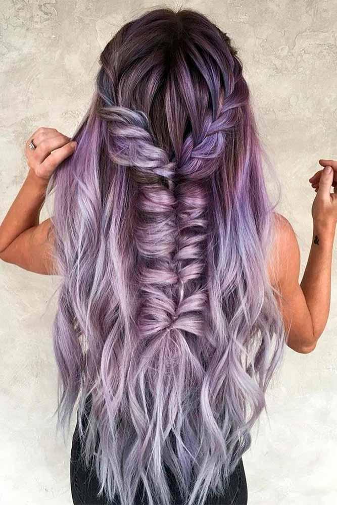 Braided Purple Hairstyle #braidedhair #purplehair