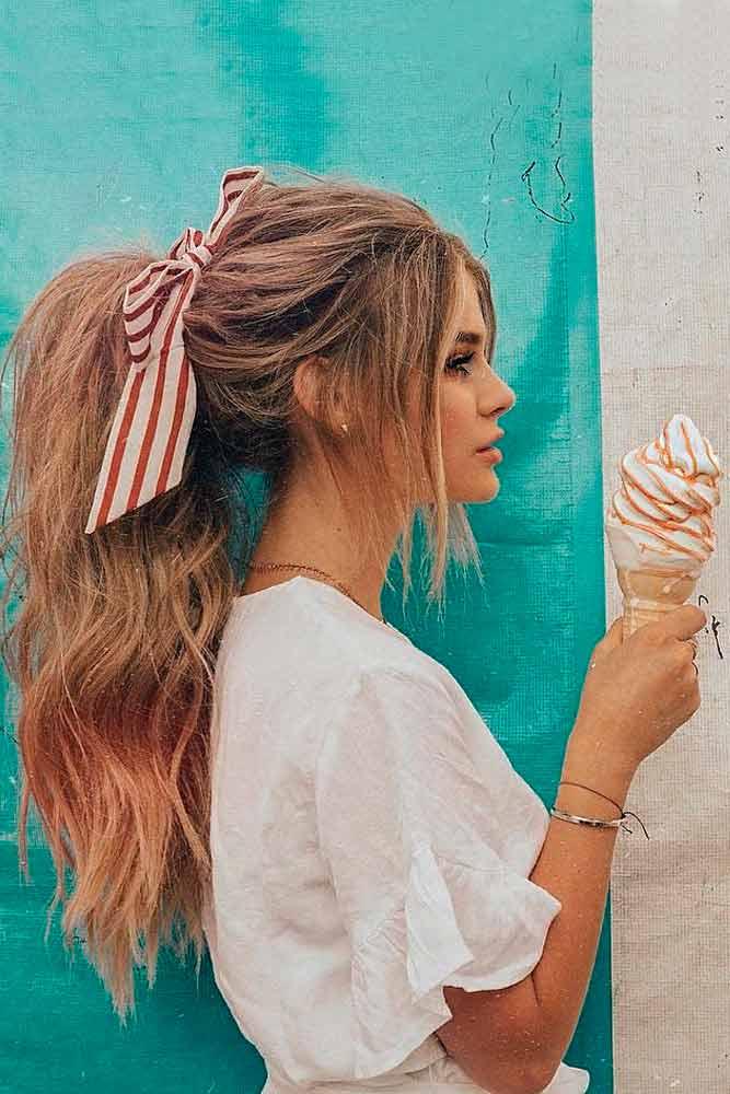 Easy And Fun Brown Ponytail Hairstyles #ponytail #longhair