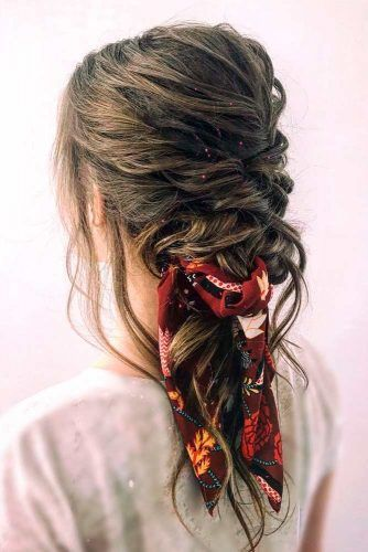 Bohemian Braid With Bandana #bohohairstyles