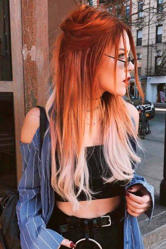 So Stylish And So Trendy Half-Up Hairstyles For Long Hair #ombrehair #halfup