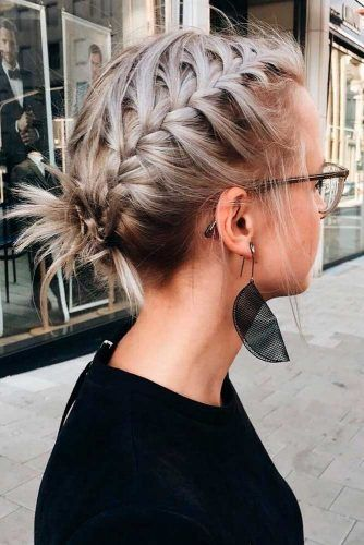 Braided Updo For Short Hair #braidedhair #shorthair