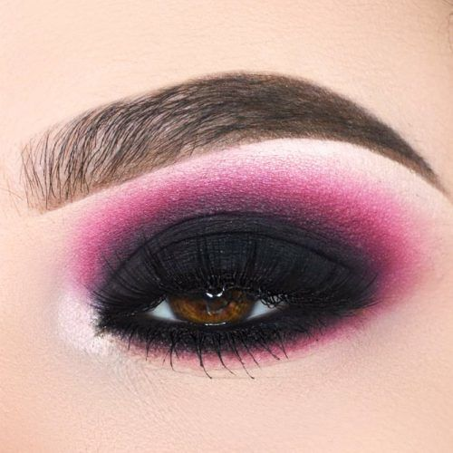 Black And Burgundy Matte Smokey Eyes Idea #blackmatte
