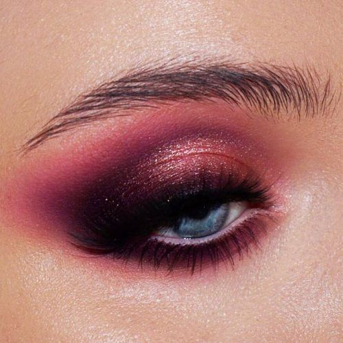 Bold Pink Smokey Eyes Makeup #pinksmokey