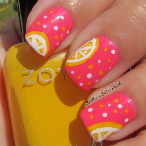 Summer Citrus Nails
