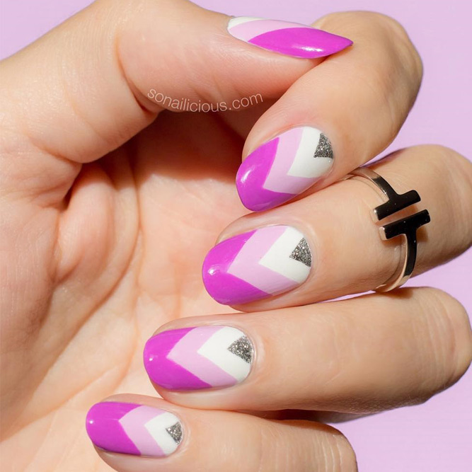 Chic Chevron Nails