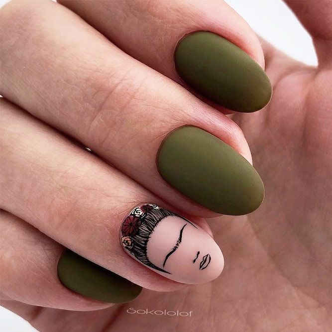 Frida Art Nails Design #fridaart