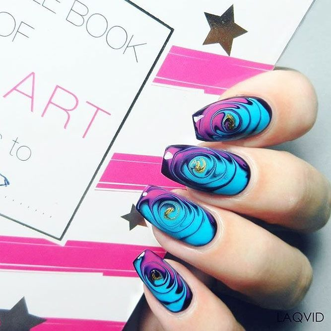 Summer Swirls Nails Design #swirlsart