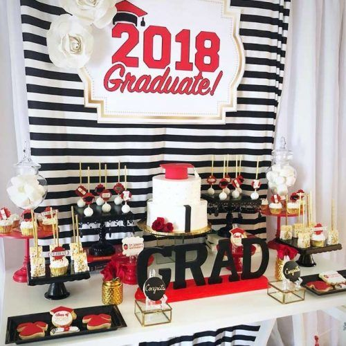 Red And Black Table Decor Decorations #redblack #graduationtable