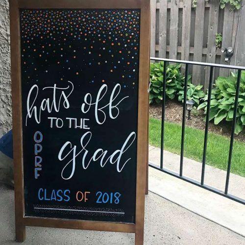 Wooden Chalkboard Design #gradsign