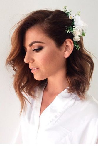 Gorgeous wedding hairstyles for shoulder length hair picture 1