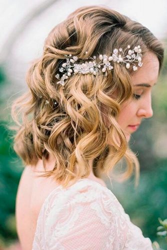 Gorgeous wedding hairstyles for shoulder length hair picture 6