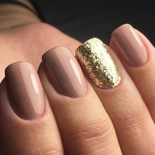 Nude Nail Designs with Glitter picture 5