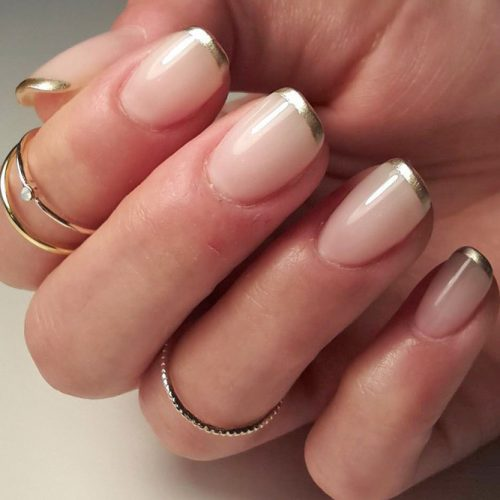 Nude Nail Designs with Glitter picture 6
