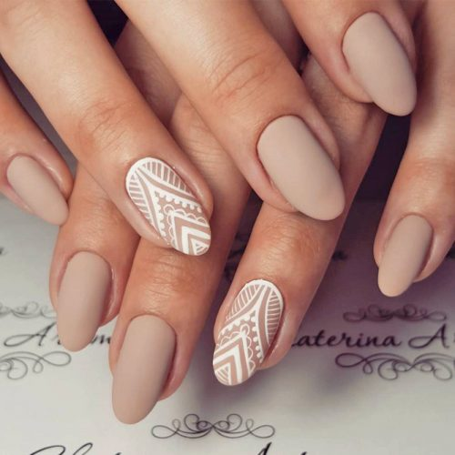 Patterned Nude Nail Designs picture 1